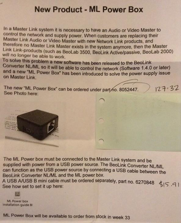 New B&O Product - ML Power Box G46