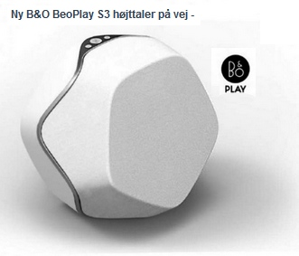 Nuevo BeoPlay S3 Altavoz. S3-p2